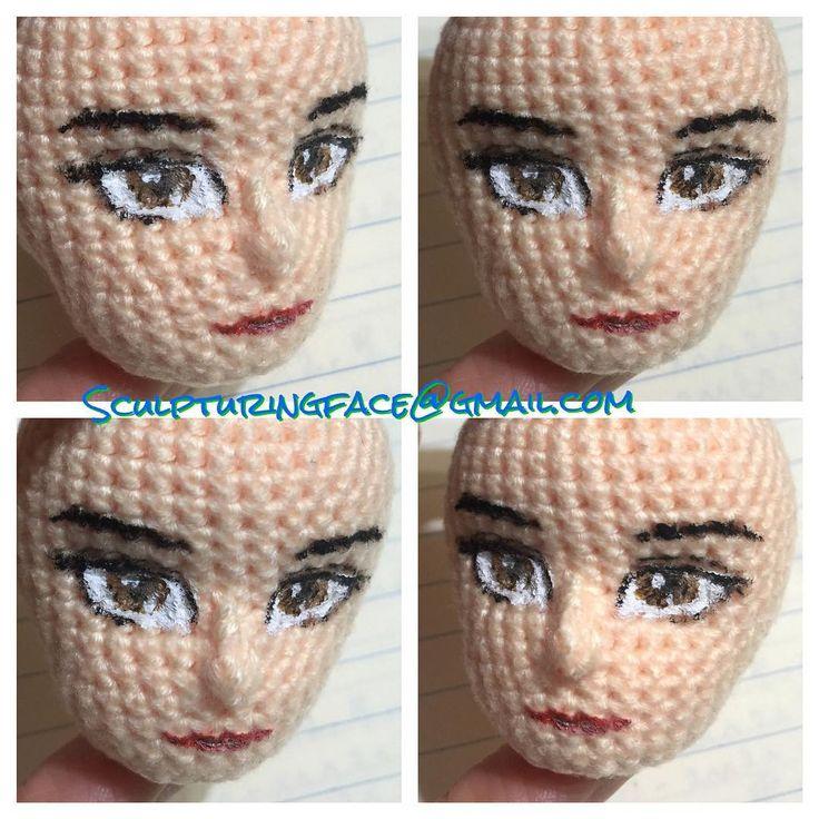 Painted original #amigurumi #crochet #patterns by #Sculpturingface  Seems quite successful
