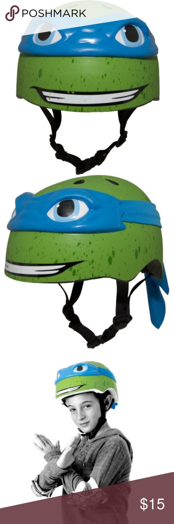 Nickelodeon Teenage Mutant Ninja Turtles Leonardo Gender Male Brand Teenage Mutant Ninja Turtles Sport Bicycling Age Range5 to 8 Years Age Group Child Assembled Product Weight 2.27 lb Assembled Product Dimensions (L x W x H) 8.27 x 6.50 x 6.50 Inches-Leonardo 3D Bike Helmet, Nickelodeon Other