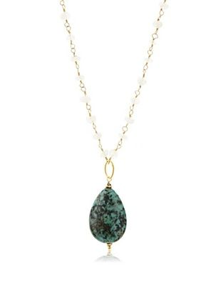 70% OFF Robindira Unsworth Turquoise & Moonstone Necklace