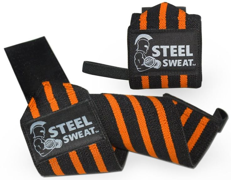 "Amazon.com : Wrist Wraps 18"" for Weight Lifting, crossfit, powerlifting, bodybuilding By Steel Sweat - Premium Grade Heavy Duty for Best Wrist Support for Weightlifting - Brace and Guard Your Wrists - Orange : Sports & Outdoors"