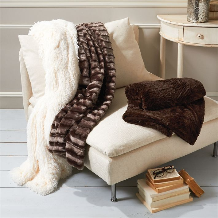 Broyhill Sofa  X Faux Fur Throw Styles Color Choices