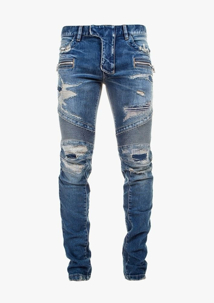 acbee94411ed02 September XVI: Photo Ripped Biker Jeans, Slim Fit Ripped Jeans, Mens  Destroyed Jeans