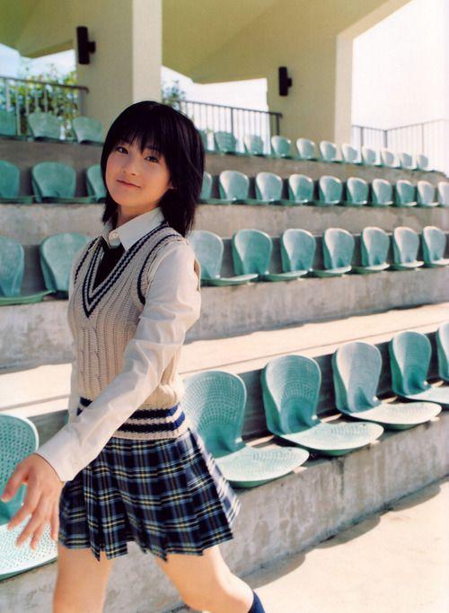 ○•SCHOOL GiRL~•○ school uniform - - sweater vest - - tie - - pleated skirt - - plaid - - short hair - - knee socks - - cute - - smile - - kawaii