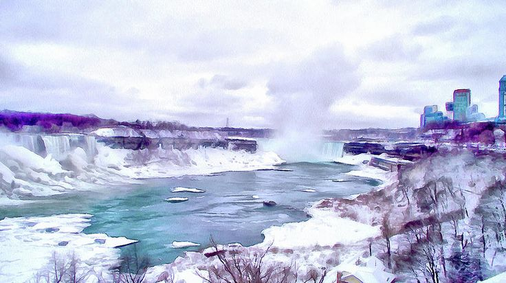 Winter In Niagara 1 by Leslie Montgomery