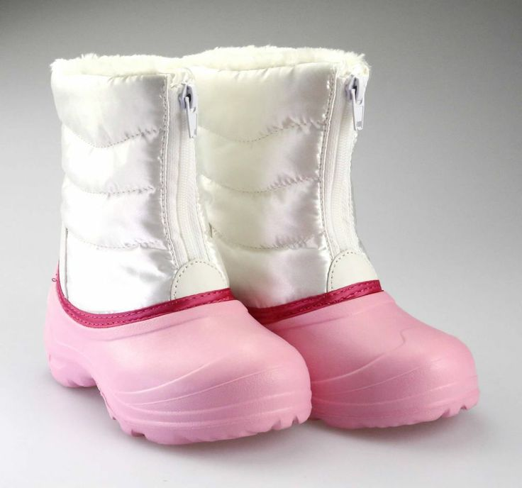 Girl's Comfy Snow Rain Warm Furry Boot Shoes Youth size 2 Pink Snowboots