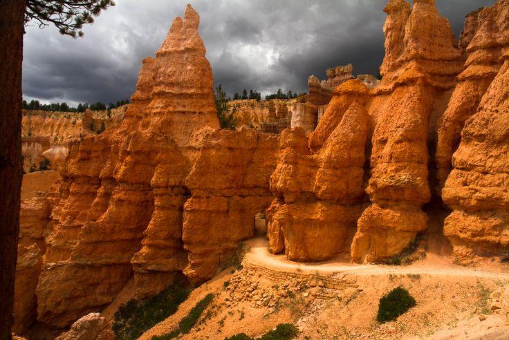 Bryce Canyon #bryce #canyon #storm #rain #sun http://hikersbay.com/go/usa