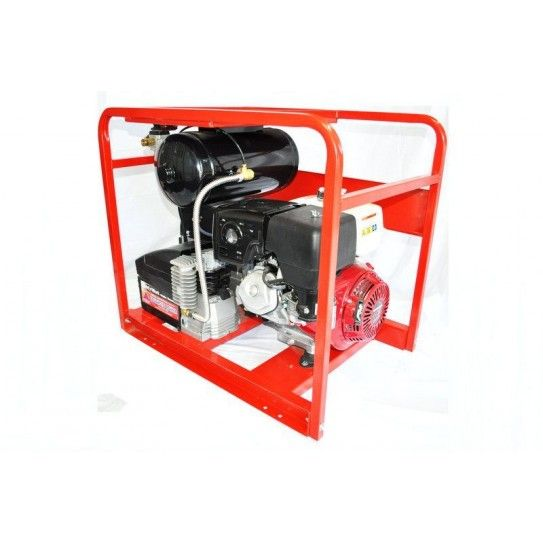 Powered by a premium-grade Vanguard engine, this welder generator is designed with commercial features for the tough demands of the jobsite. Housing a generator, compressor and battery charger in one unit, this 4-in-1 portable workstation provides outstanding 60-200 amp welding capacity and performance characteristics, together with a continuous output of 5600 watts to suit all of your welding and power requirements on site.