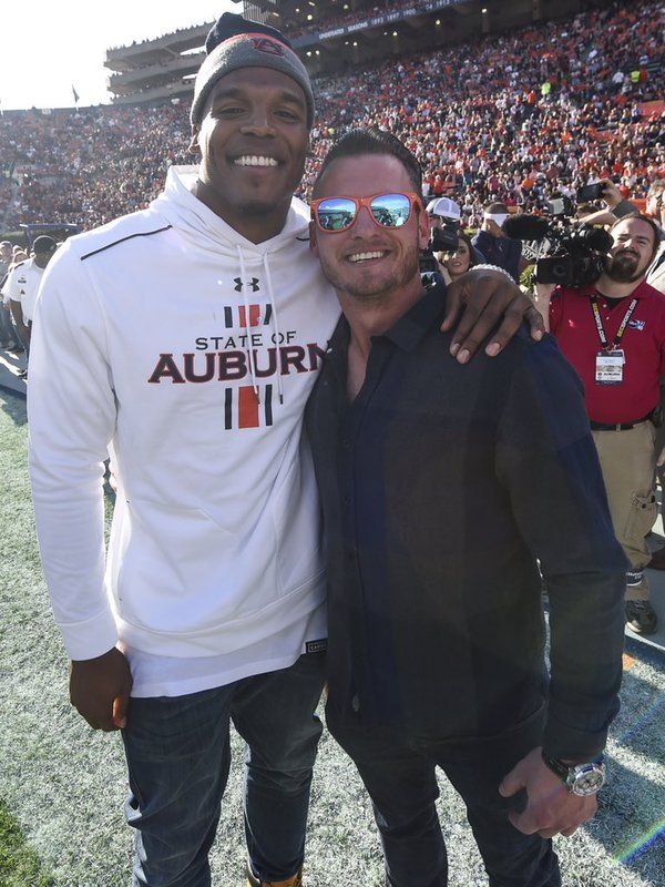 Auburn alumni and MVP winners, Carolina Panthers QB Cam Newton and Toronto Blue Jays third baseman Josh Donaldson. Auburn becomes the first school ever to have alumni win MVP in both leagues in the same season.