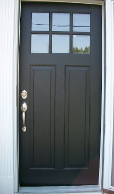 craftsman style front door black - Google Search More