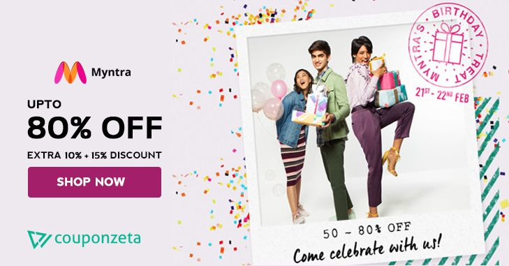 Party with Myntra! Shop & Enjoy Min. 50 80% OFF + Extra 10