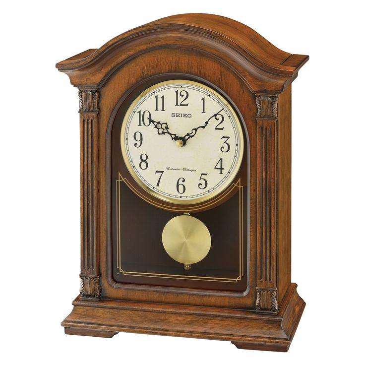 Seiko Traditional Classics Pendulum 10 in. Mantel Clock - QXQ032BLH
