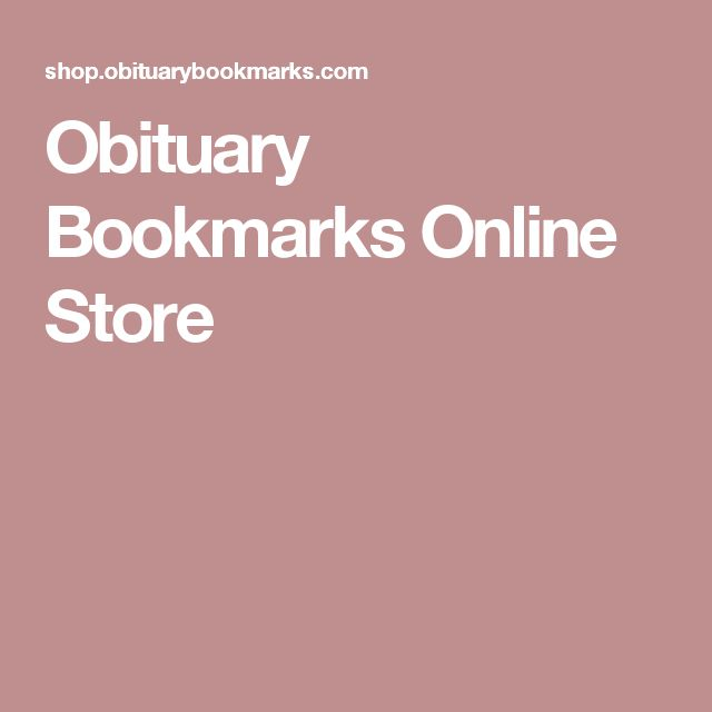 Obituary Bookmarks Online Store