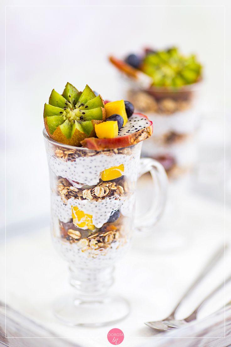 Deser z chia - łatwy do zrobienia i #fit. #przepis #deser #jedzenie #chia