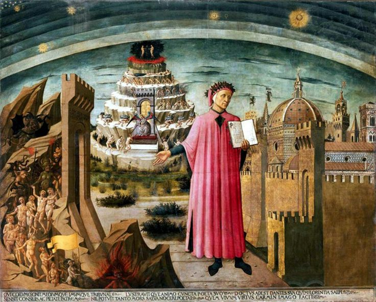 La Commedia illumina Firenze is a fresco by Domenico di Michelino located in the Duomo of Florence. The painting was commissioned to Michelino by the workers of Santa Maria del Fiore, who wanted a portrait celebrating the poet Dante