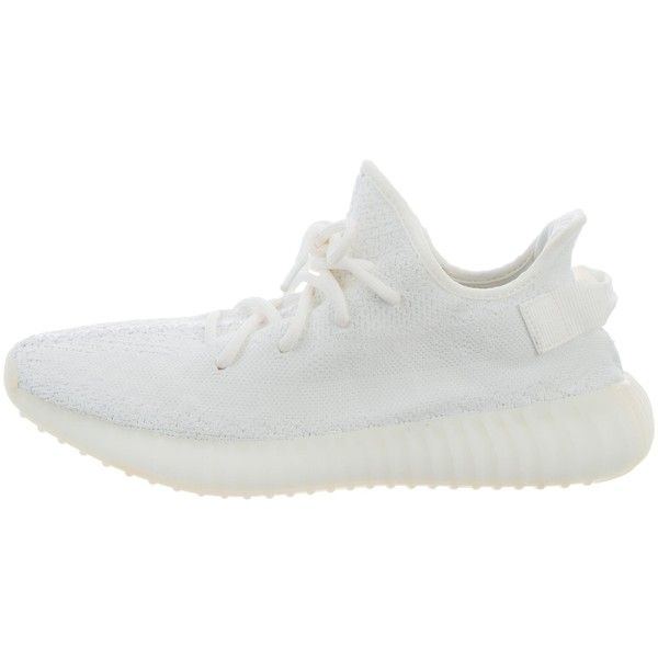 Pre-owned Yeezy x Adidas Boost 350 V2 Sneakers (€485) ❤ liked on Polyvore featuring men's fashion, men's shoes, men's sneakers, white, mens low tops, mens sneakers, mens white sneakers, mens low profile shoes and men's low top shoes