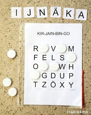 Kirjainbingo. Neljä erilaista tulostettavaa pelipohjaa http://www.haaraamo.fi