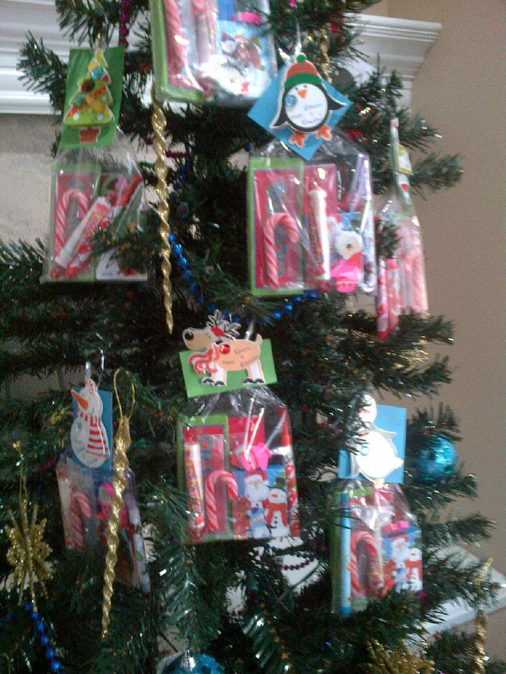 Christmas Goodie Bags  For preschoolers - ornament style