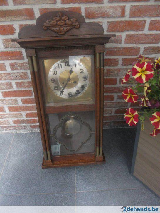 Gebruikt: antieke houten hangklok (Klokken & Barometers) - Te koop voor € 40,00 in Turnhout