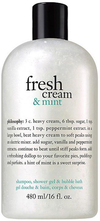 Fresh Cream & Mint Shampoo, Shower Gel & Bubble Bath, Philosophy, 16 oz