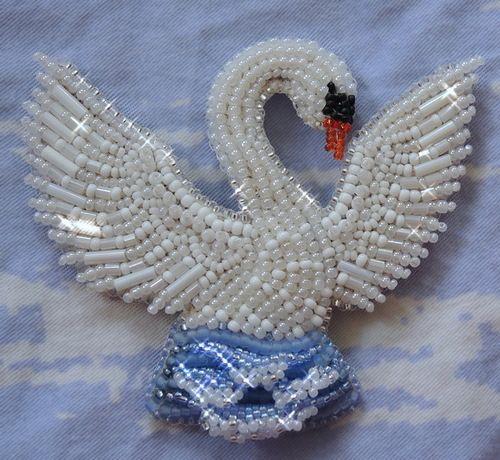 Лебедь и кусочек моря | biser.info - всё о бисере и бисерном творчестве