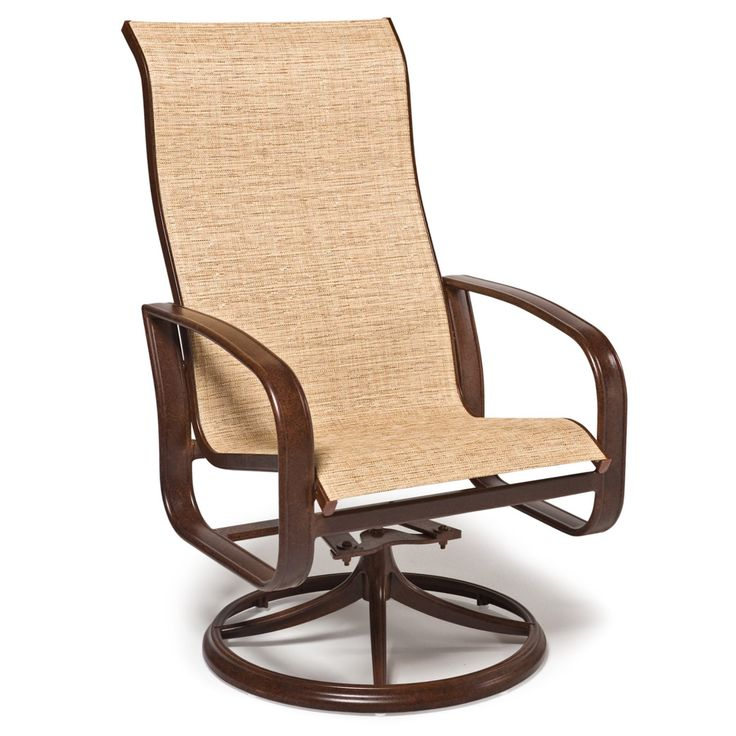 Outdoor Woodard Cayman Isle Sling High Back Swivel Dining Chair - Set of 2 - WD1478