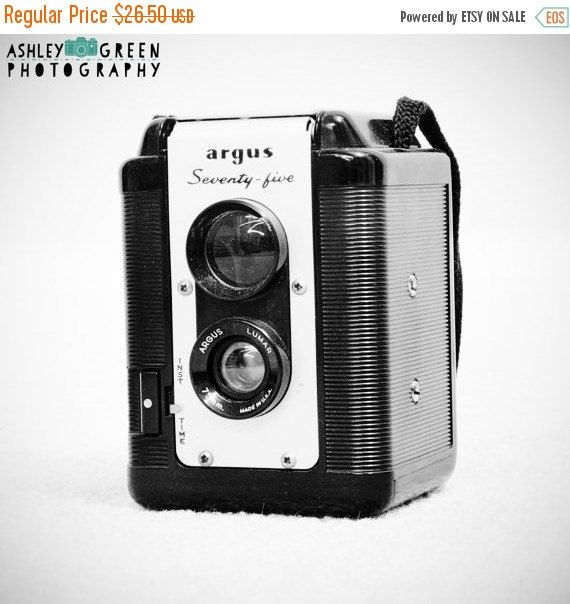 SALE Camera Decor / Vintage Cameras / by AshleyGreenPhoto on Etsy