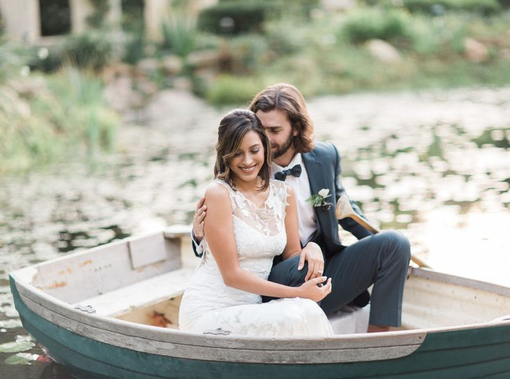 romantic boat portraits