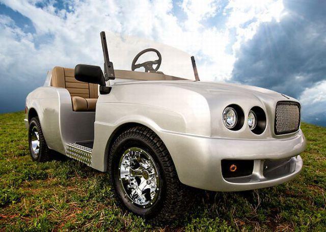 Luxury Golf cart! #golfcart #golf #uaegolf