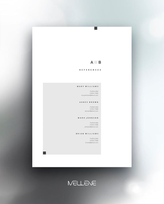 Resume Template 5 Page Cv Template Cover Letter Instant Download For Ms Word Anna