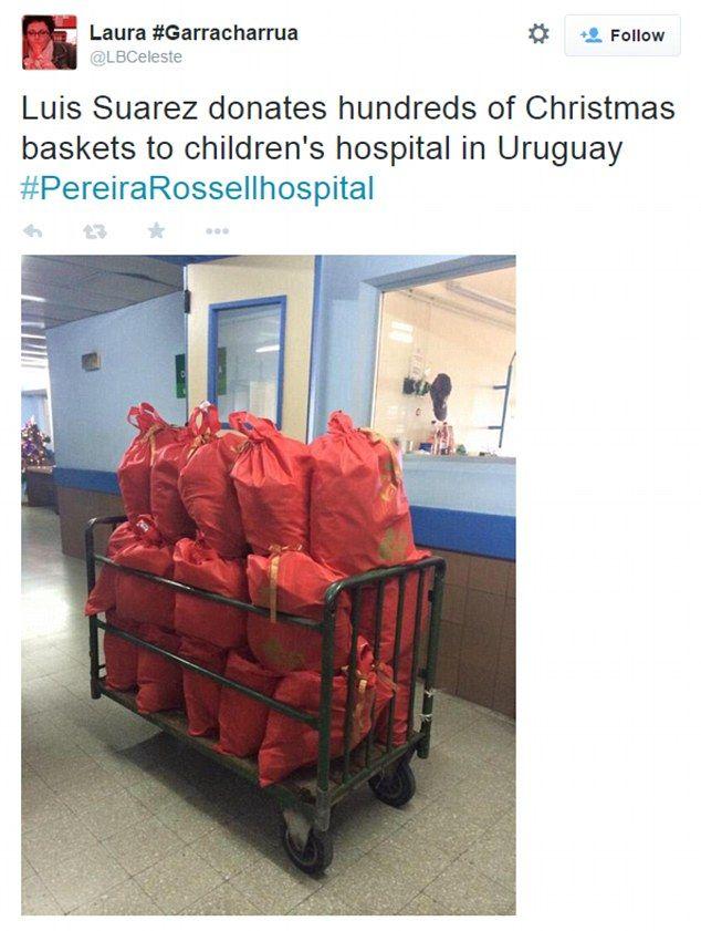 AGEN JUDI SBOBET CASINO TERPERCAYA - SUAREZ BAGI 500 KERANJANG HADIAH NATAL BAGI ANAK - ANAK http://www.klikbola88.org/berita/agen-judi-sbobet-casino-terpercaya-suarez-bagi-500-keranjang-hadiah-natal-bagi-anak-anak-754.aspx #LuisSuarez #Suarez #uruguay #Barcelona #klikbola88
