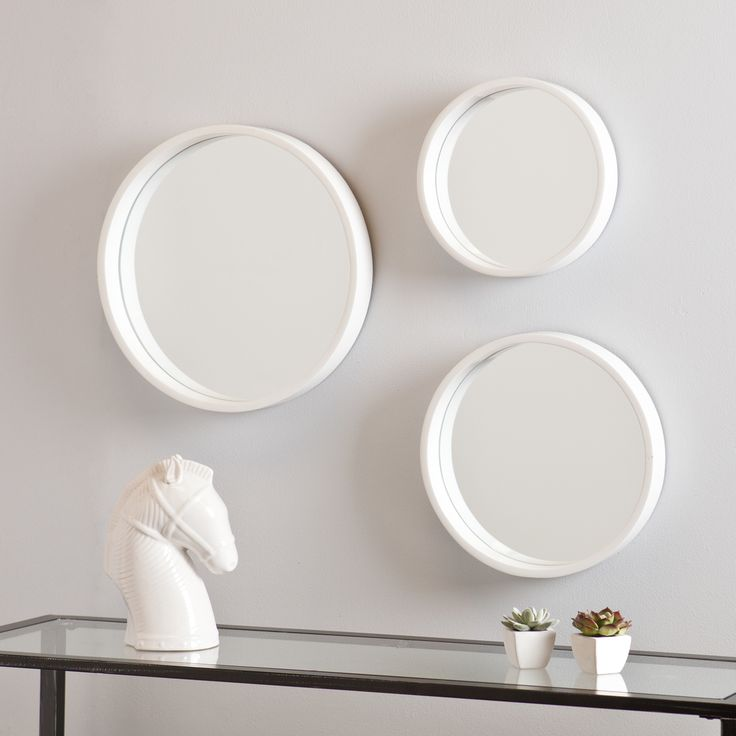 Holly and Martin Daws White Wall Mirror 3pc Set - Overstock™ Shopping - Great Deals on Holly & Martin Mirrors