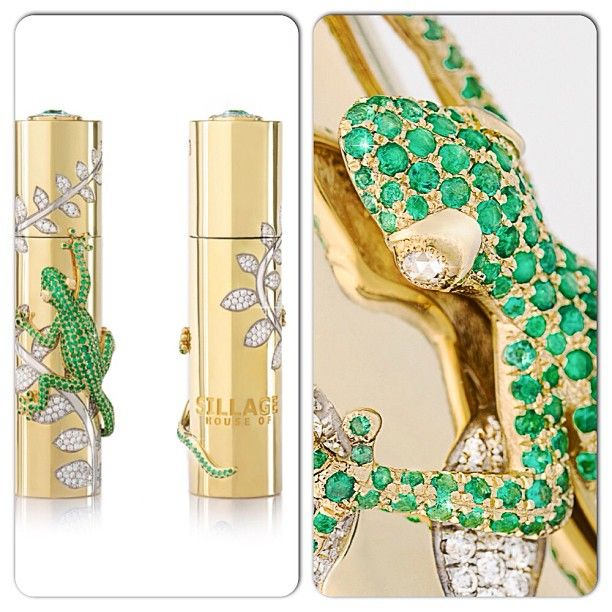 House of Sillage limited-edition piece. House of Sillage limited-edition travel spray crafted in finely jeweled solid gold case was also showcased at the World Luxury Expo in Abu Dhabi - 2013