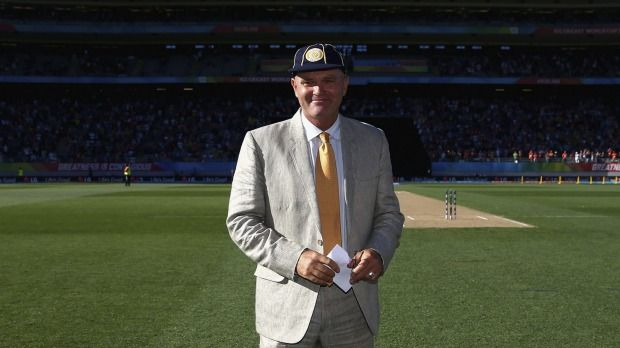 Martin Crowe at his induction into the ICC Hall of Fame at Eden Park, during the Cricket World Cup 2015.