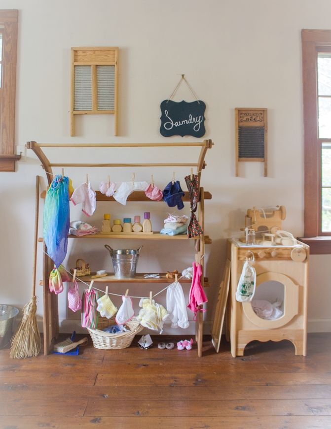 Simple Doll Laundry Play Center
