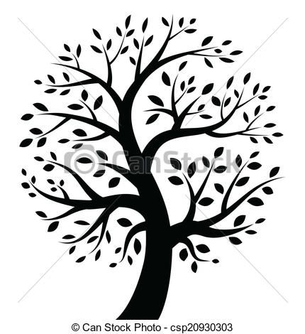 vecteur noir arbre ic244ne banque dillustrations