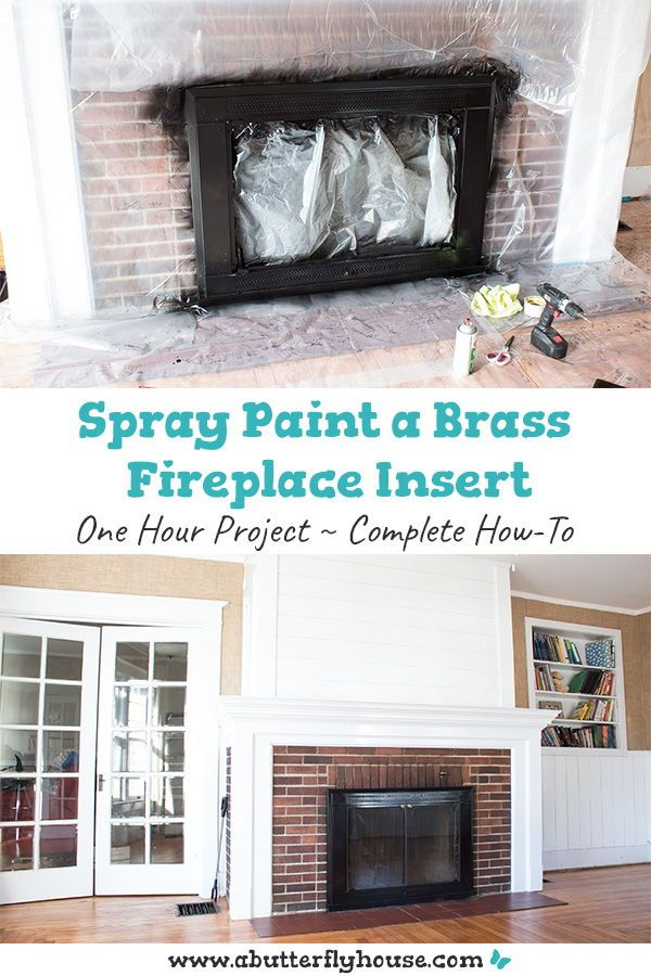 How To Spray Paint A Brass Fireplace Insert Fireplace Inserts