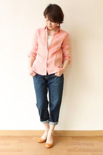 MACPHEE(マカフィー)リネンウオッシャブルシャツ・ピンク - 12,960円 | 通販 | CREEKS