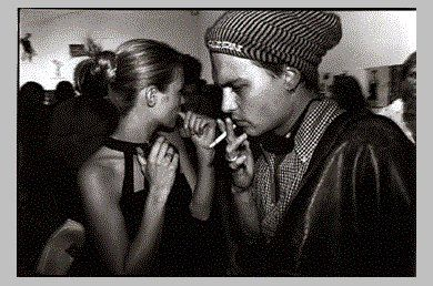 Johnny Depp and Kate Moss the cool couple