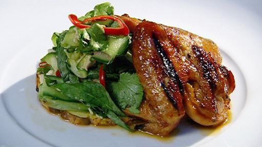 Chicken with Asian Salad
