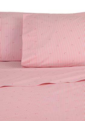 Southern Tide Girls' Skipjack King Sheet Collection - Pink