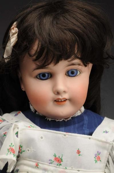 """- Unusual """"Mon Tresor"""" Child Doll -German bisque socket head incised """"Mon Tresor 12"""" made for the French trade of Paris doll maker Henri Rostal"""
