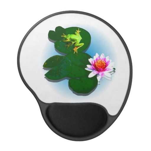Customize Frog On A Lily Pad Gel Mouse Pad Gel Mouse Pad - This gel mouse pad features a frog on a lily pad with a light blue fading water background. Change the background colour and add your own text to get it just the way you like it! http://www.zazzle.com.au/customize_frog_on_a_lily_pad_gel_mouse_pad_gel_mousepad-159872263585206341?rf=238523064604734277
