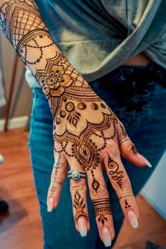 Henna Tattoo Vs Real Tattoo: 39 Henna Tattoo Designs: Beautify Your Skin With The Real