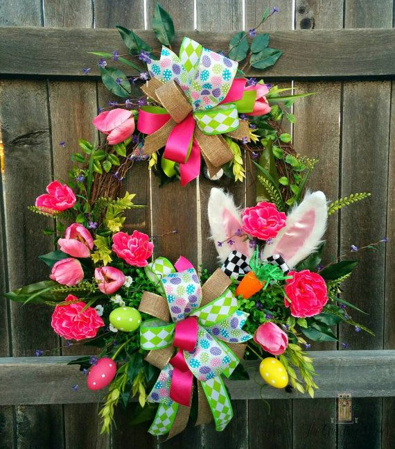 1279 Best Easter Deco Mesh Wreaths And Easter Crafts