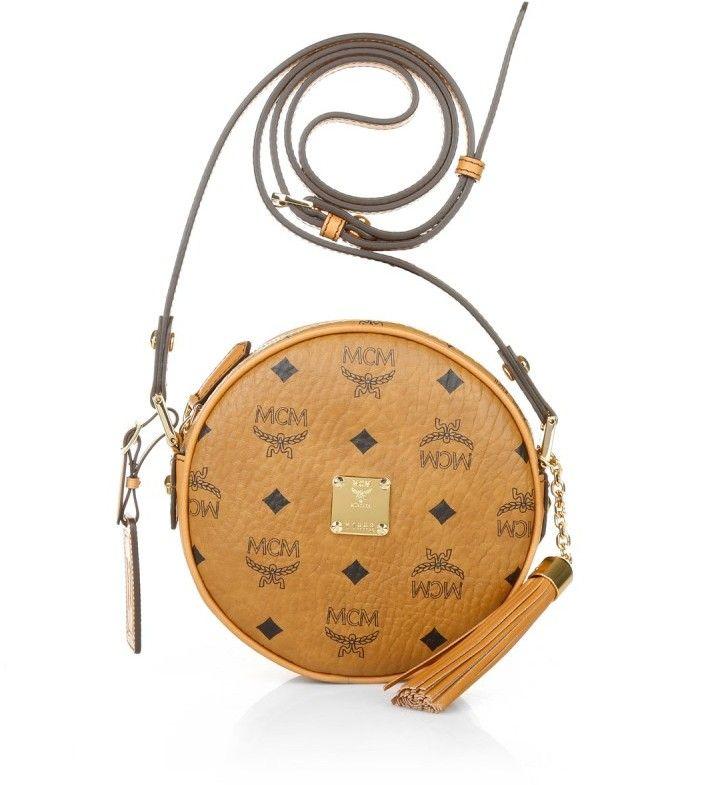 MCM Heritage Tambourine Small Cognac Handtaschen