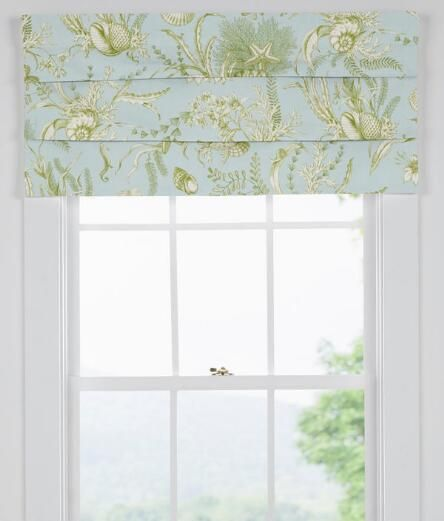 Evoke seaside memories with this lovely toile, composed of intricately detailed delicate shells, underwater life, flora and fauna. (Country Curtains Seascape Toile Lined Faux Roman Shade)