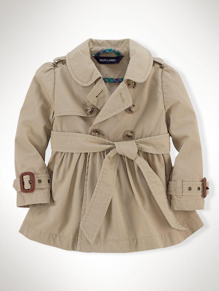 Holy!: Ralph Lauren Classic Full-Skirt Trench Coat - Infant Girl (9M–24M)