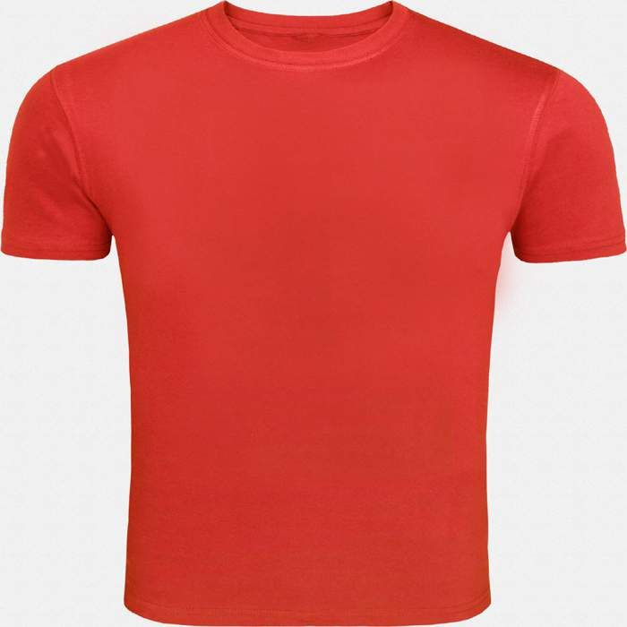 This red round necked, half-sleeved plain T-shirt gives a casual fit to you for all seasons. Wear this super-comfortable cotton T-shirt with denims and trousers or for a workout or even under a casual jacket.