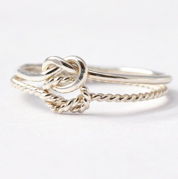 Double Knot Ring: Silver True Love Waits Ring, Cool Gifts