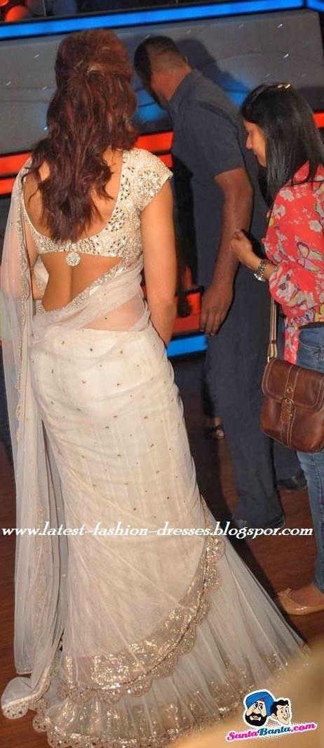 Bollywood actress deepika padukon in white saree